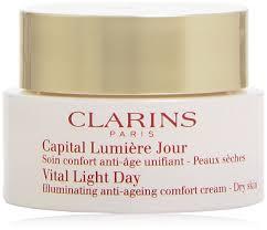 Vital Light Day Cream Clarins Vital Light Day Illuminating Anti Ageing Comfort Cream For Unisex 1 7 Ounce