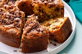 Mix together the dry ingredients with the cream mixture alternately with the sour cream; Azonews Blog For The Best Simple Food Recipes In A Short Time New Sour Cream Chocolate Chip Coffee Cake