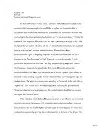 Example Summary Essay 023 Summary Response Essay Sample Example