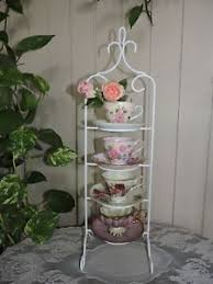 Cup And Saucer Display Stand Cup Saucer Display Stand Rack 100 Tier Metal eBay 79