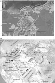Hubbard Scientific Physiographic Chart Of The Seafloor Circum Arctic Lithosphere Evolution Cale Transect C