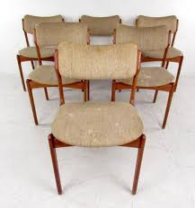 walnut dining room table mid century dining set with table and chairs by skovby and o d