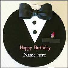 Write Name On Special Birthday Cake For Husband