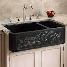 granite farm sink. Modren Farm Image Is Loading 33034Floral7030OffsetDoubleBowl With Granite Farm Sink