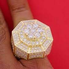 mens new style huge cer pinky ring