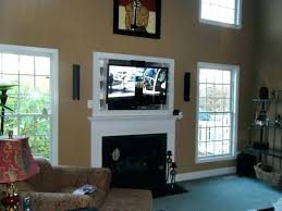 how to install over fireplace cable box installation surround sound in wall can you put tv