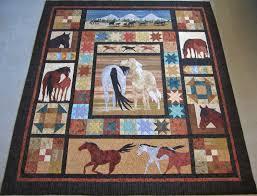 Horse Quilt Pattern Classy Roberta's Custom Quilting Horse Applique Quilt