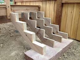 building deck steps to code stairs on uneven ground design and ideas building deck