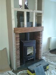 Building a chimney breast for a stove fire