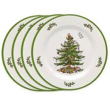 Spode Christmas Tree Melamine Dinner Plates (Set of 4)