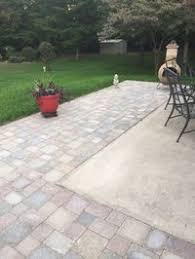 patio pavers over concrete. Extending Concrete Patio With Pavers Over