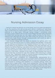 getting accepted into nursing school is not easy because there is craft a convincing admission essay the assistance of this nursing admission essay sample get