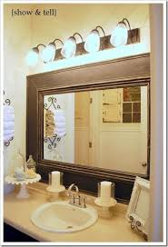 diy bathroom mirror frame unique adding moulding around a builder mirror love that this is chunkier