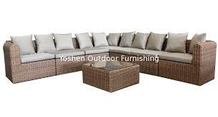 china outdoor rattan furniture modular sectional sofa set ys5739 supplier