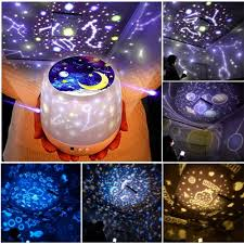 Outer Space Light Projector Us 16 87 30 Off Night Light Projector Star Moon Sky Rotating Battery Operated Bedside Lamp For Children Kids Baby Bedroom Nursery 5 Sets Of Film In