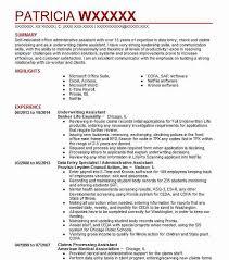 Underwriting Assistant Resumes Underwriting Assistant Resume Sample Accountant Resumes Livecareer