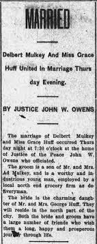 Delbert & Grace Mulkey Marriage - Newspapers.com