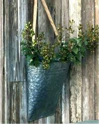 metal wall planter l round galvanized grey threshold mounted vases pocket planters nz