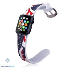 Designer 38mm Apple Watch Bands American Silicone Sport Band For Apple Watch