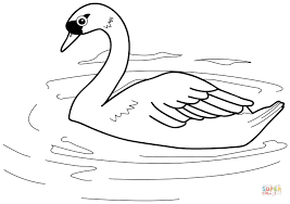 Small Picture Swan coloring page Free Printable Coloring Pages