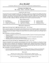 Construction Project Manager Resume Resume Sample