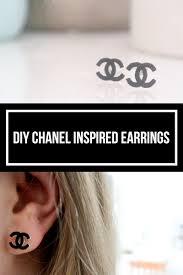 chanel inspired earrings. diy chanel inspired earrings. how to make earrings with shrink plastic. the