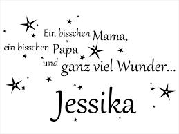 Wandtattoo Mama Papa Wunder Mit Name Wandtattoode