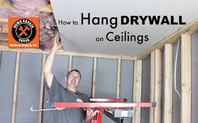 how to hang sheet rock how to hang drywall ceilings by home repair tutor youtube