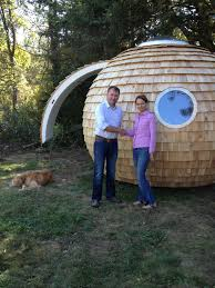 garden pod office. Chris Sneesby Of Archipod And Judy Bernier Podzook Complete To Assembly The Demo Pod In Waldoboro, Maine Garden Office