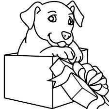 Cute Christmas Puppies And Kittens Christmas Coloring Pages