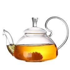 Designer Glass Teapot 600 1200ml Heat Resistant Glass Teapot Flower Tea Kettle Puer Herbal Blooming Tea Pot Microwave Stovetop Safe Teapot Teaware