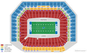 Ford Stadium Seating Chart Detroit Lions Seating Chart With Seat Numbers 2019