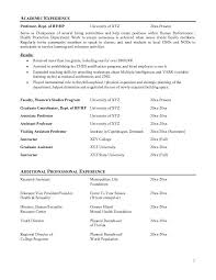 Best Solutions of Sample Professor Resume About Service
