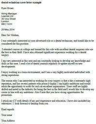 dental technician cover letter example database administrator cover letter
