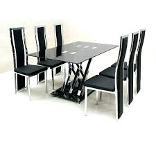 white dining table and 6 chairs gl dining room sets for 6 amazing dining table chairs