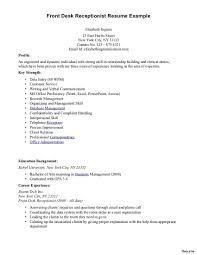 Front Desk Clerk Resume Examples Free Resume Templates