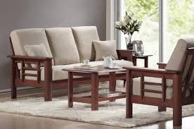 sathiya furniture simple wooden sofa set