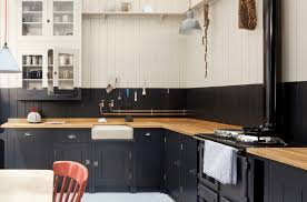 black and white dual tone kitchen