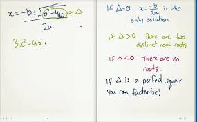 finding the discriminant of a quadratic equation