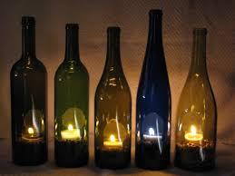 Deck Lighting--- Fun use for some of my fav wine bottles!