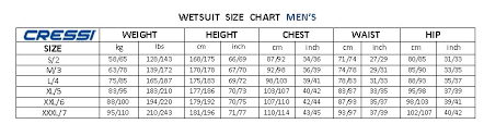 Cressi Shorty Wetsuit Size Chart 29 Ageless Waterproof Wetsuit Size Chart