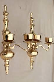 polished brass candle sconces wall sconce set w le glass vintage hurricane shades chandelier