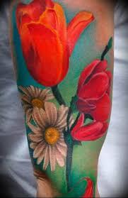 фото тату цветок тюльпана 06042019 011 Tulip Tattoo Tattoo