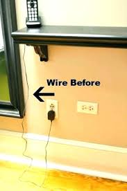 hide speaker wires in apartment how to wire with hardwood floors hiding on floor cords run