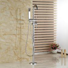 2018 whole and retail chrome brass floor mounted bathroom tub faucet hand shower free standing tub filler from gonglangno1 160 81 dhgate com