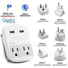 US Tablet International Power Adapter Perfect for Cellphone Asia & Aus  Laptop Plugs for Europe 2 USB Black Travel Adapter UK Universal Outlet+Gift  Pouch Electrical Adapters ilsr.org