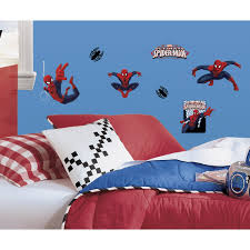 super hero bedroom ideas archives groovy kids gear ultimate spiderman peel and stick wall decals 22 count