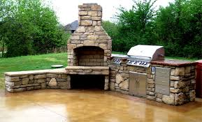 outdoor kitchens with fireplace. Fine With Outdoor Kitchen U0026 Fireplace In Kitchens With H