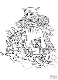 3 Little Kittens Have Lost Their Mittens coloring page | Free ...