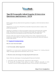 Top 20 Interview Questions Top 20 Frequently Asked Angularjs Interview Questions And